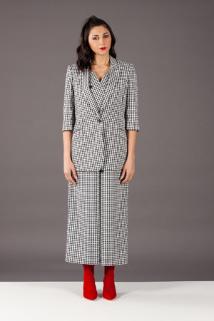 9B10300 giacca blazer scozzese maryling tuta jumpsuit