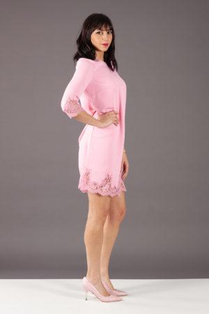 abito rosa pizzo ermanno scervino AB65