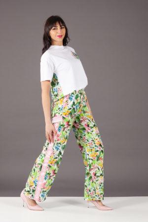 pantalone stampa fiori ermanno scervino PL21