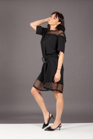 abito dress vestito rete nero smarteez erikanet