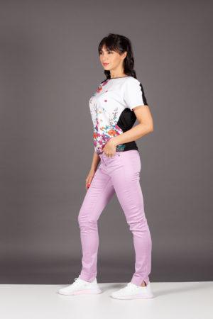 jeans denime pink glicine cristinaeffe pantaloni