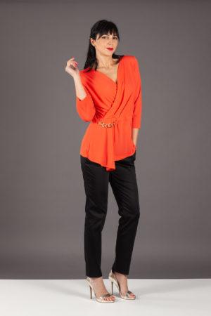 maglia blusa jersey clips arancio