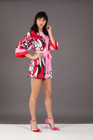 kimono nenette rosso